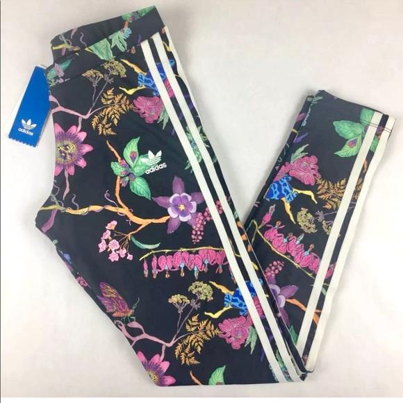 fa885c51766c5 adidas Pants   Leggings Poisonous Garden   Poshmark